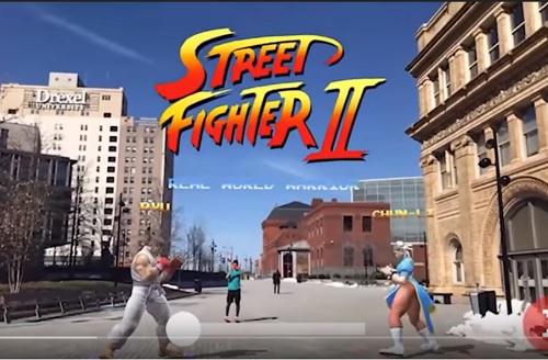 大ヒットゲームのストリートファイターが現実世界(ARという拡張現実)でプレーできちゃう!!